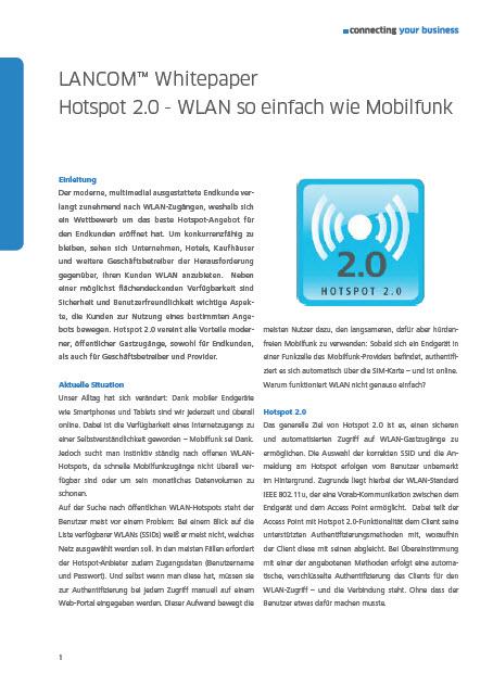 Hotspot 2.0 – WLAN so einfach wie Mobilfunk