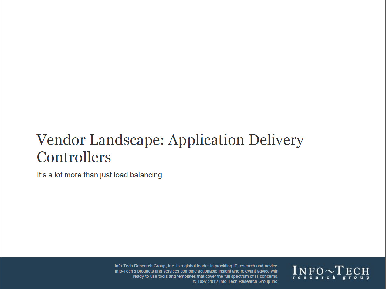 2012 InfoTech Research report on ADCs