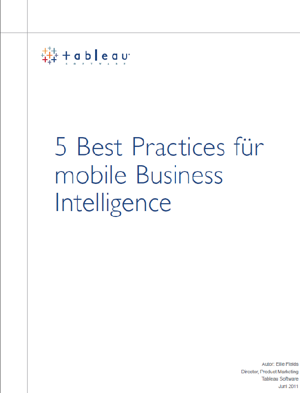 5 Best Practices für mobile Business Intelligence