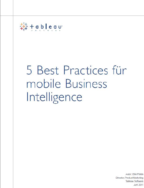 5 Best Practices für mobile Business Intelligence