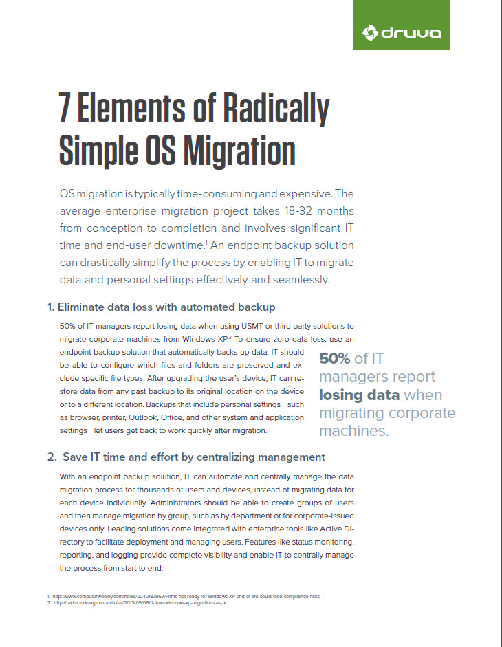 7 Elements of Radically Simple OS Migration