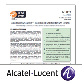 Alcatel-Lucent OmniSwitch™ – chassisbasierte und stapelbare LAN-Switches