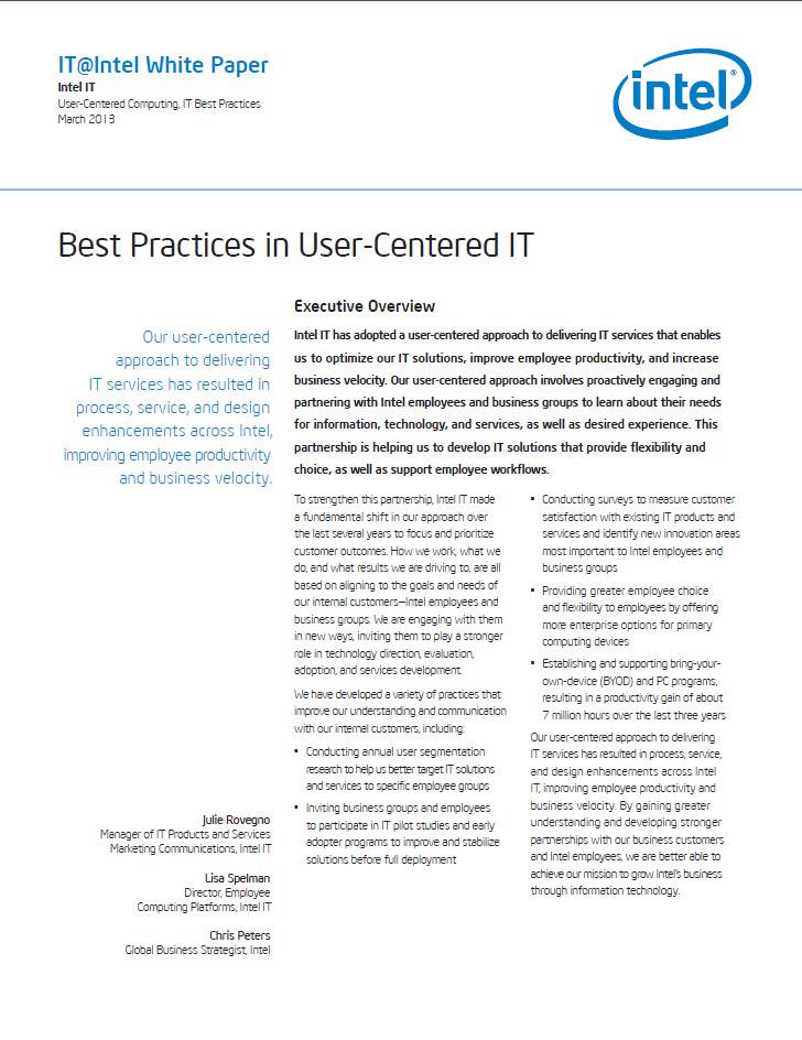 Bewährte Verfahren für Benutzer-zentrierte IT