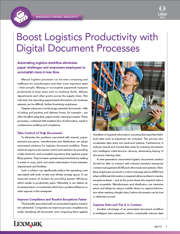 Boost Logistics Productivity with Digital Document Processes