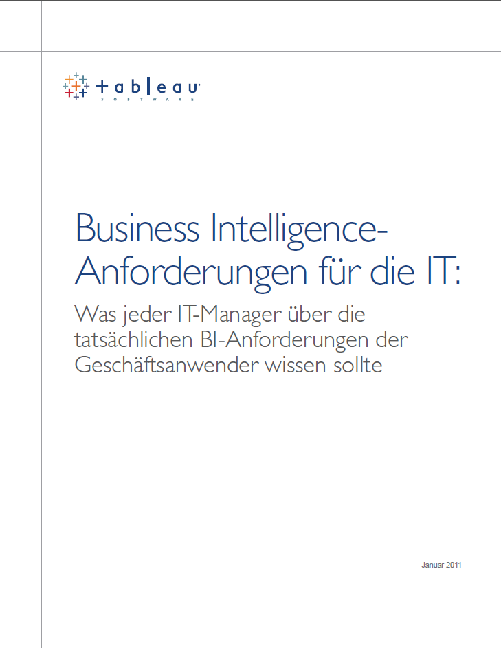 Business Intelligence-Anforderungen für die IT