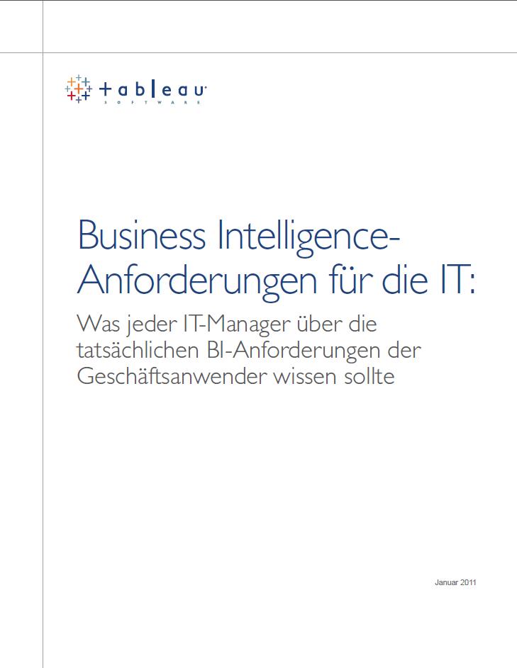 Business Intelligence-Anforderungen für die IT