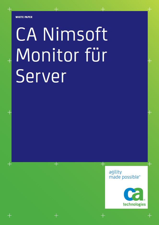 CA Nimsoft Monitor für Server