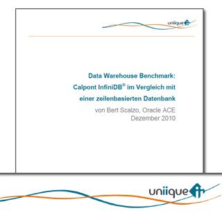 Data Warehouse Benchmark: Calpont InfiniDB® im Vergleich mit  einer zeilenbasierten Datenbank