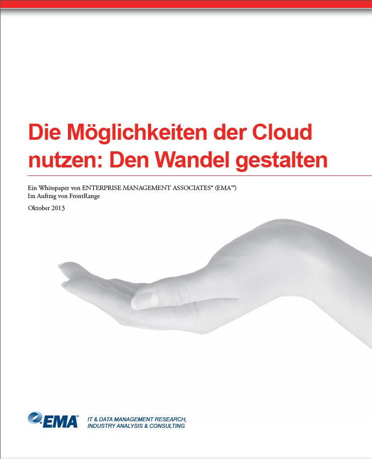Die Möglichkeiten der Cloud nutzen: Den Wandel gestalten