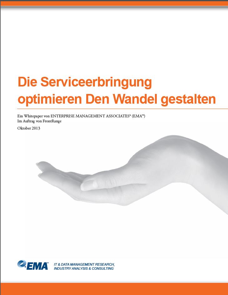 Die Serviceerbringung optimieren Den Wandel gestalten