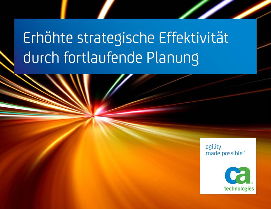 Erhöhte strategische Effektivität durch fortlaufende Planung
