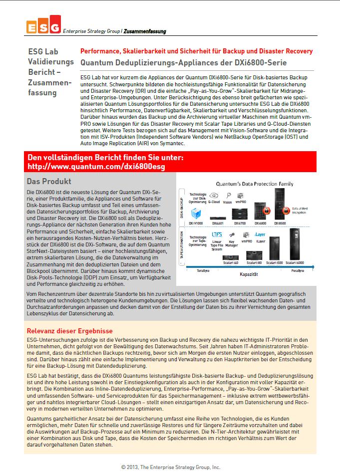 ESG Lab Validierungsbericht – Zusammenfassung