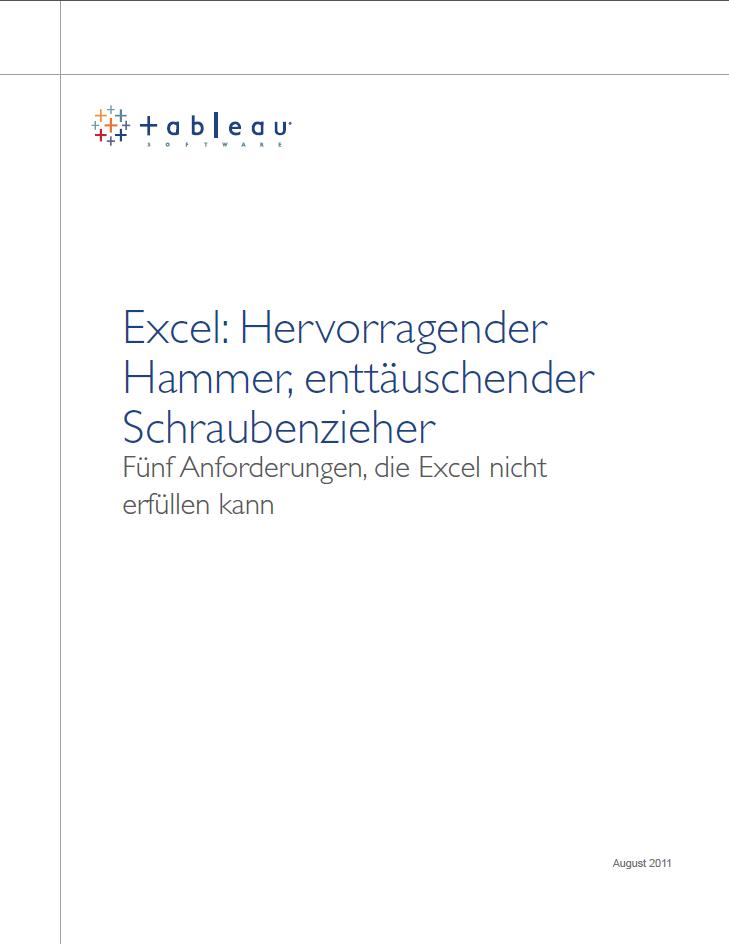 Excel: Hervorragender Hammer, enttäuschender Schraubenzieher