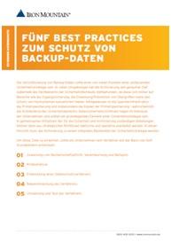 Fünf Best Practice zum Schutz von Backup-Daten