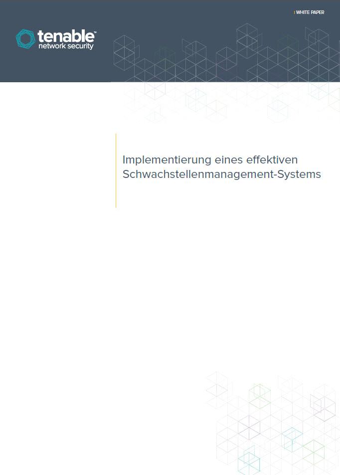 Implementierung eines effektiven Schwachstellenmanagement-Systems