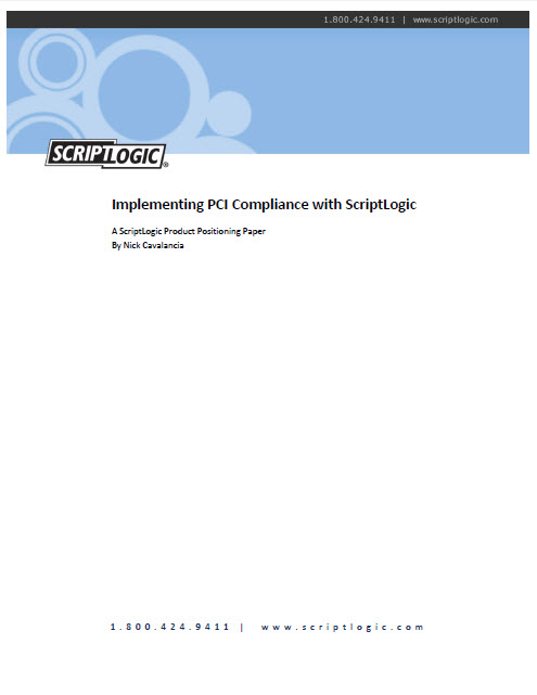 Implementing PCI with ScriptLogic