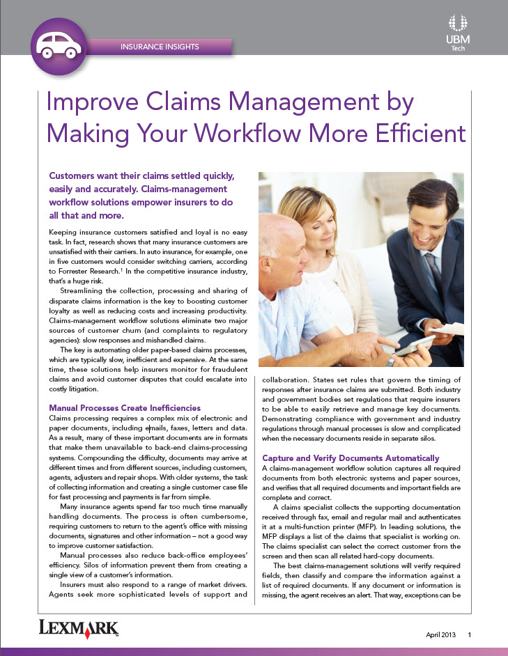 Improve Claims Management by Making Your Workflow More Efficient