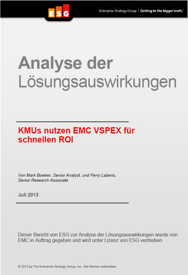KMUs nutzen EMC VSPEX für schnellen ROI