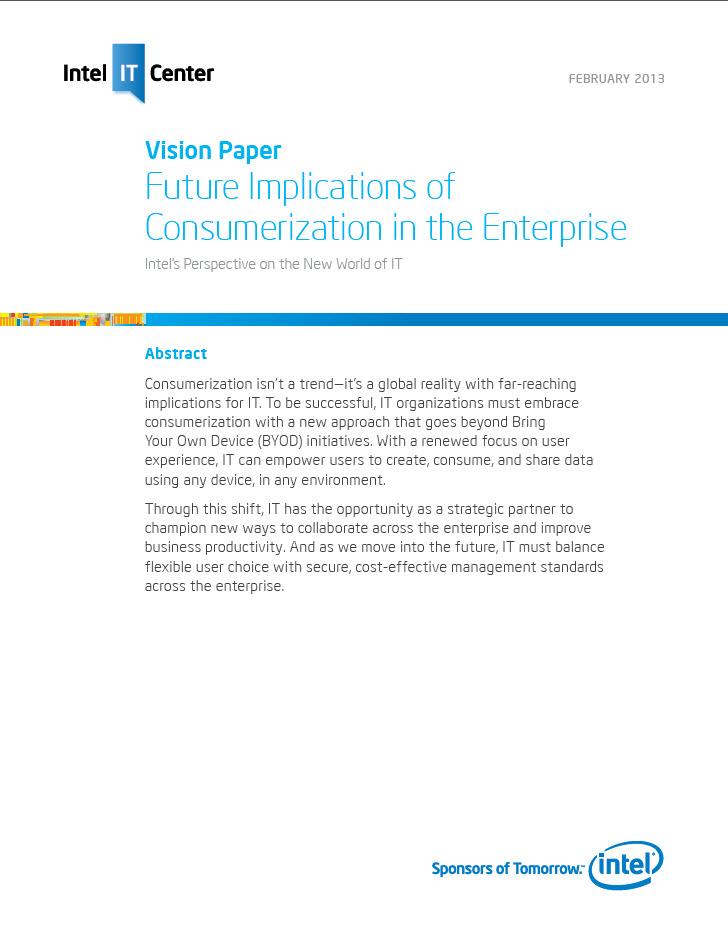 Künftige Auswirkung von Konsumerisierung in Unternehmen