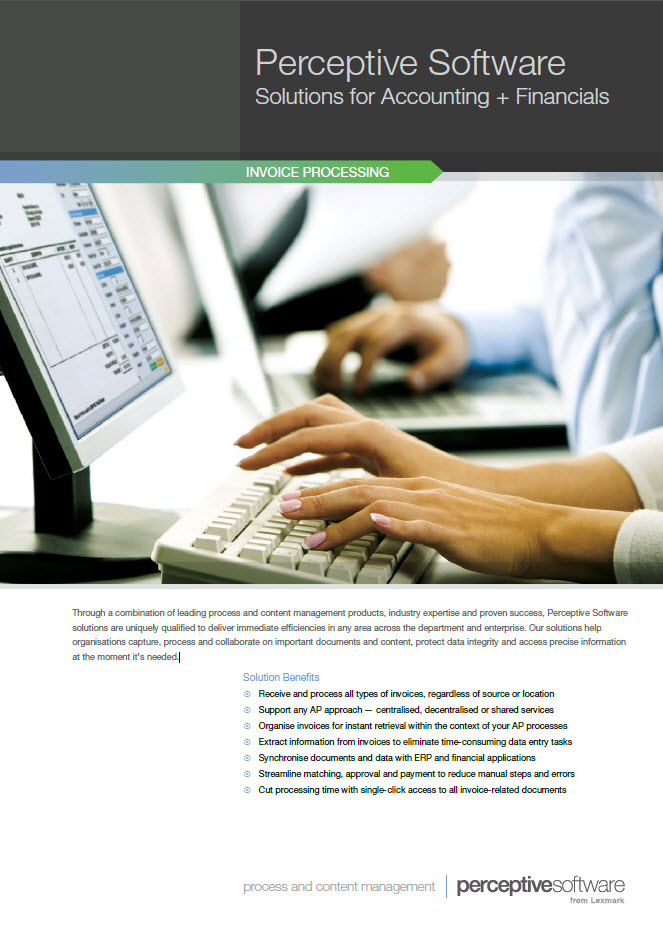 Perceptive Software – Solutions for Accounting + Financials