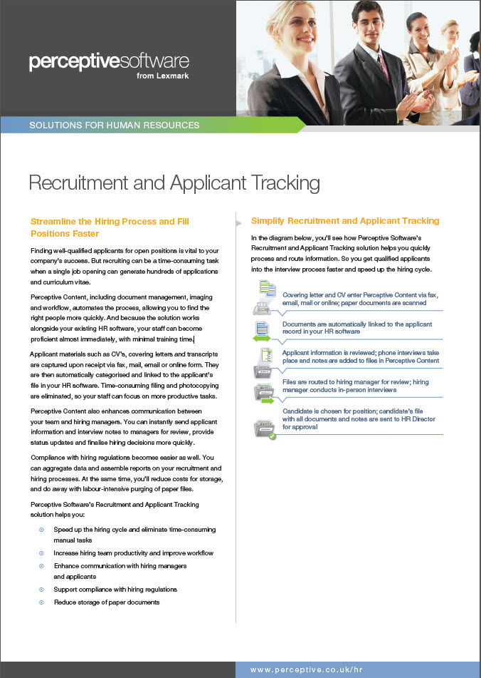 Recruitment and Applicant Tracking
