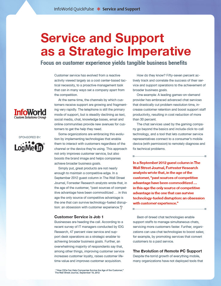 Service and Support as a Strategic Imperative