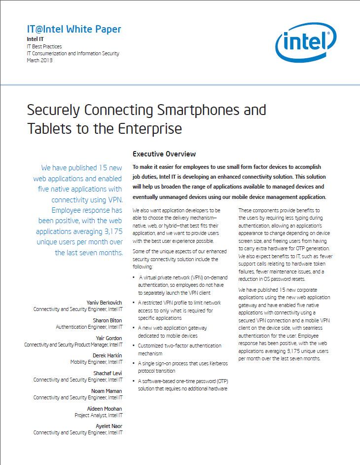 Smartphones und Tablets sicher mit dem Unternehmensnetzwerk verbinden