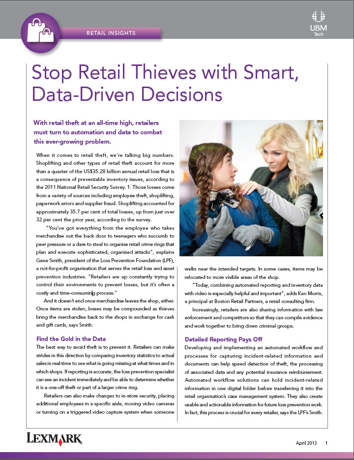 Stop Retail Thieves with Smart, Data-Driven Decisions