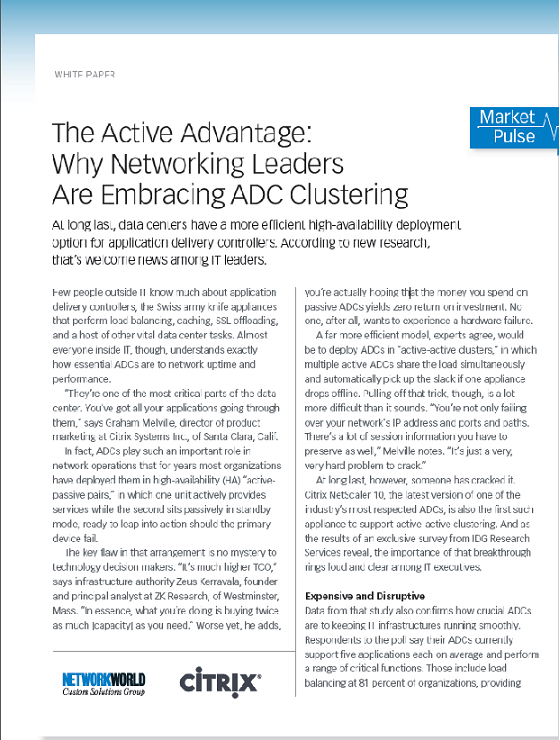 The Active Advantage: Why Networking Leaders Are Embracing ADC Clustering