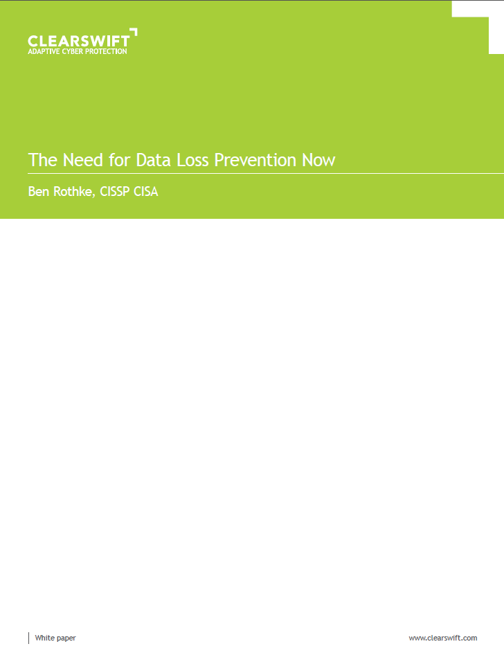 The Need for Data Loss Prevention Now