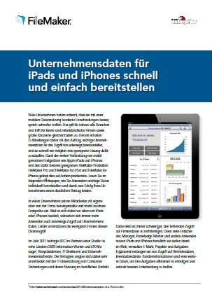 Unternehmensdaten für iPads und iPhones schnell und einfach bereitstellen