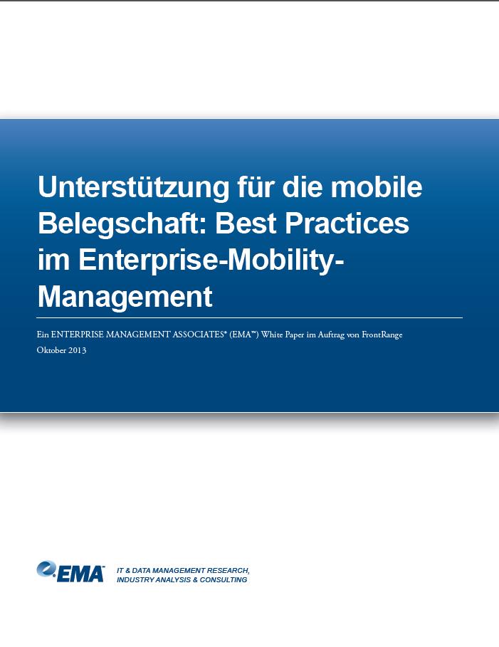 Unterstützung für die mobile Belegschaft: Best Practices im Enterprise-Mobility- Management