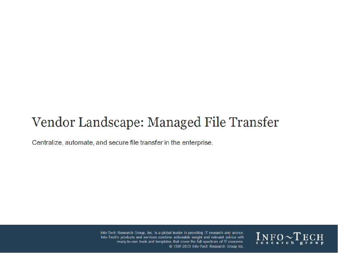 Vendor Landscape: Managed File Transfer