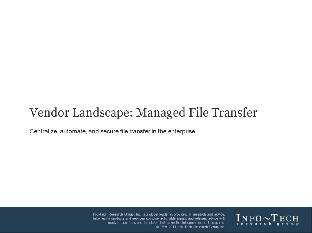 Vendor Landscape: Managed File Transfer