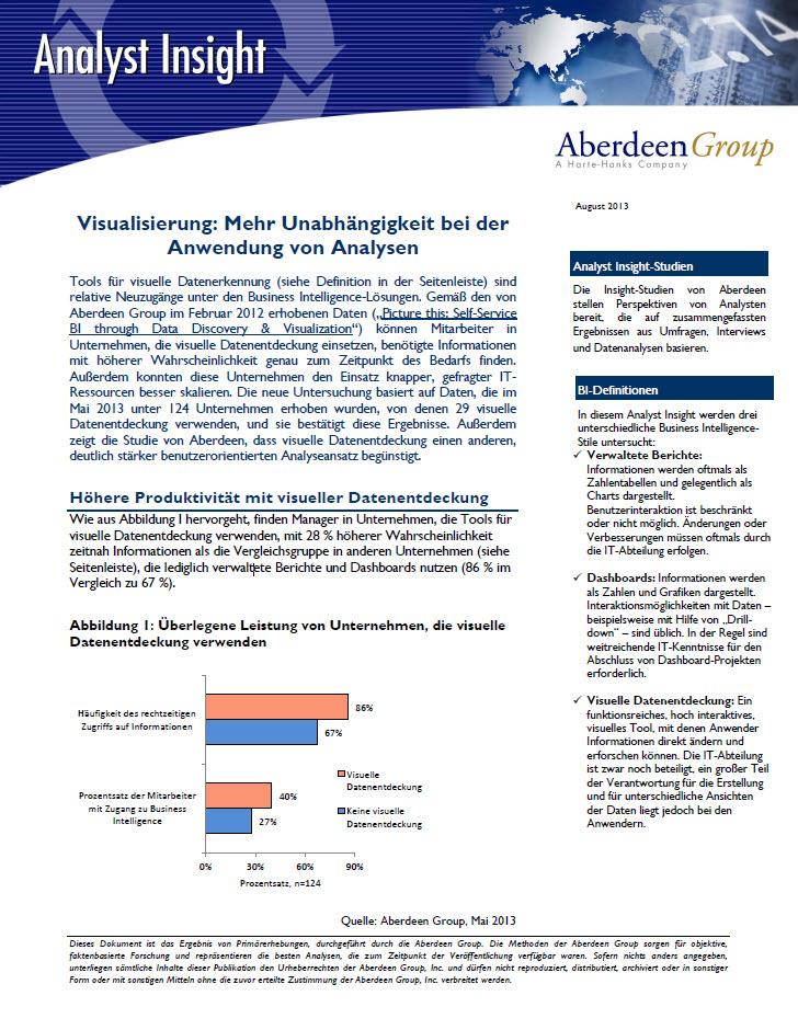 Visualisierung: Mehr Unabhängigkeit bei der Anwendung von Analysen