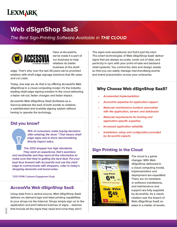 Web dSignShop SaaS – The Best Sign-Printing Software Available in THE CLOUD