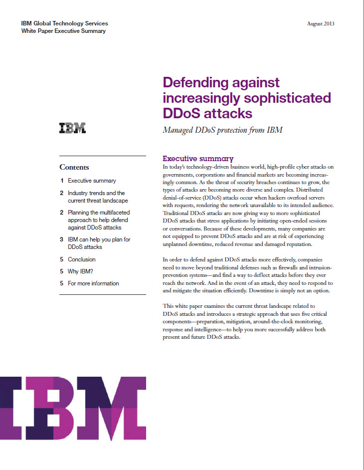 Defending against increasingly sophisticated DDoS attacks