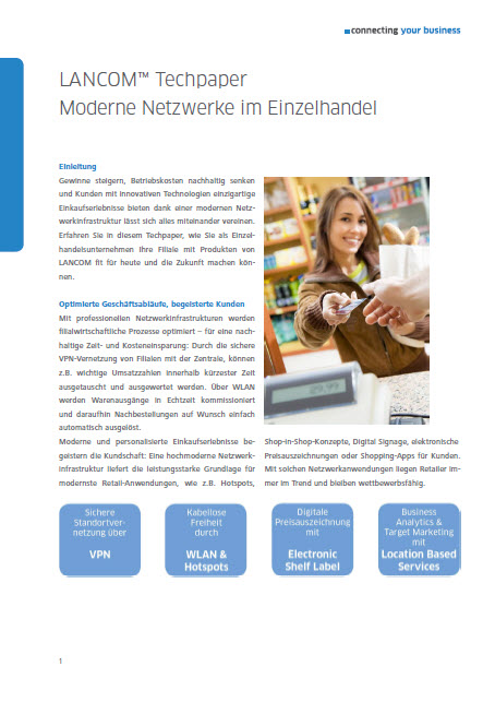 Moderne Netzwerke im Einzelhandel