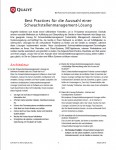Best Practices für die Auswahl einer Schwachstellenmanagement-Lösung