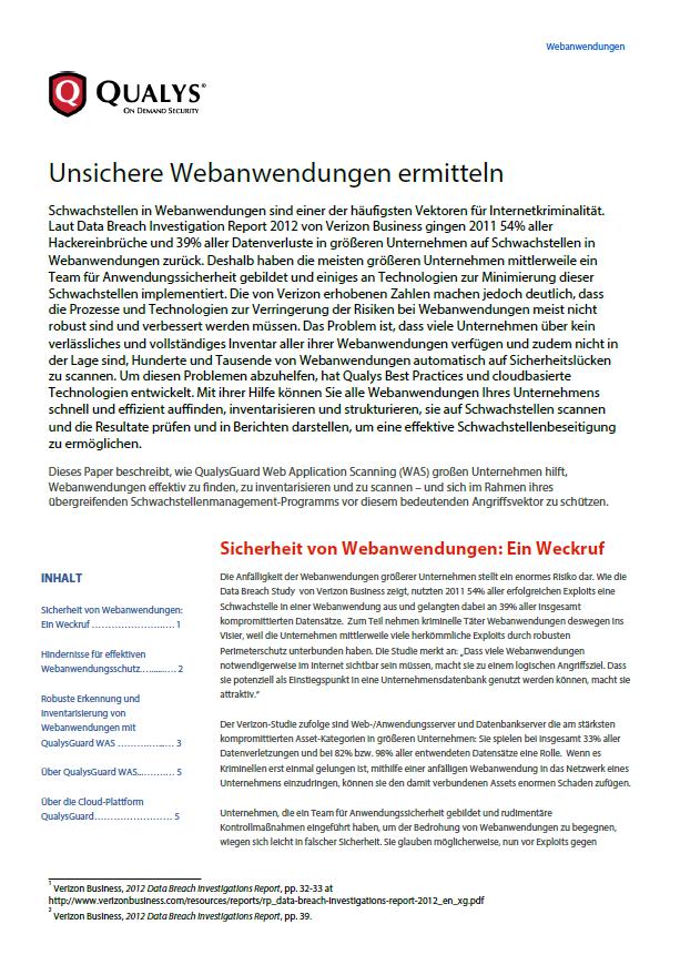 Unsichere Webanwendungen ermitteln