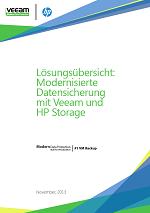 Lösungsübersicht: Modernisierte Datensicherung mit Veeam und HP Storage