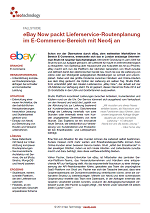 eBay Now packt Lieferservice-Routenplanung im E-Commerce-Bereich