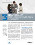 CSO – 3 Strategien, um Compliance-Bestimmungen zu managen