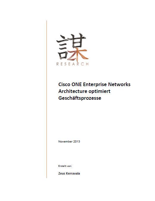 Cisco ONE Enterprise Networks Architecture optimiert Geschäftsprozesse