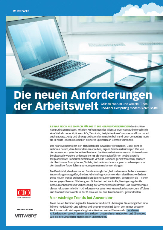 Die neuen Anforderungen der Arbeitswelt: Gründe, warum und wie die IT das End-User Computing modernisieren sollte