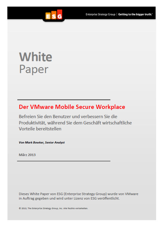 Der VMware Mobile Secure Workplace