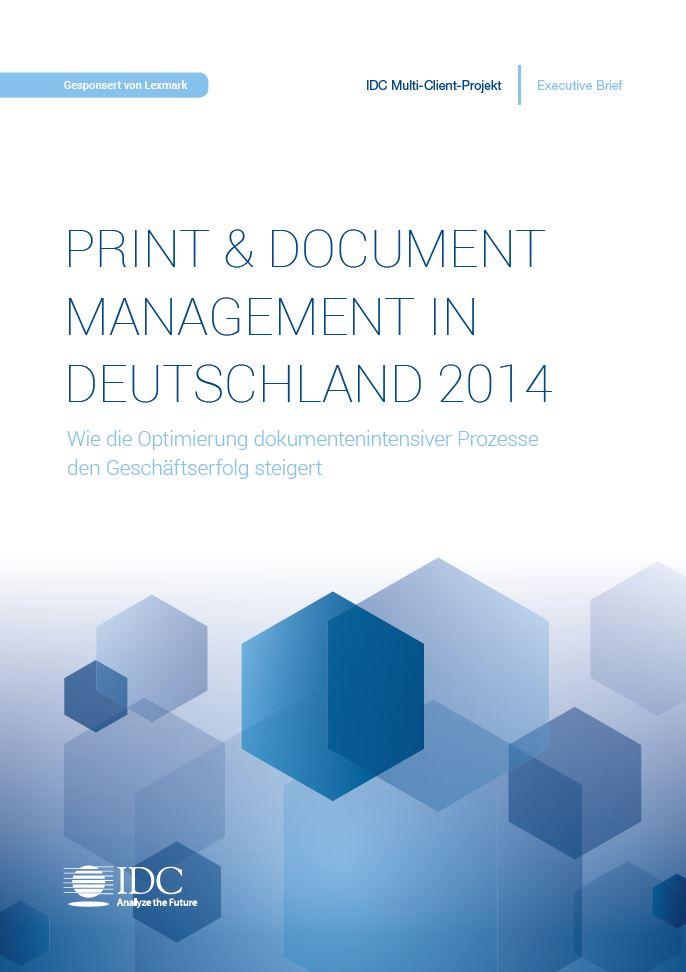 PRINT & DOCUMENT MANAGEMENT IN DEUTSCHLAND 2014