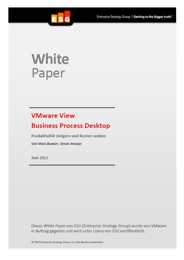 VMware View Business Process Desktop – Produktivität steigern und Kosten senken