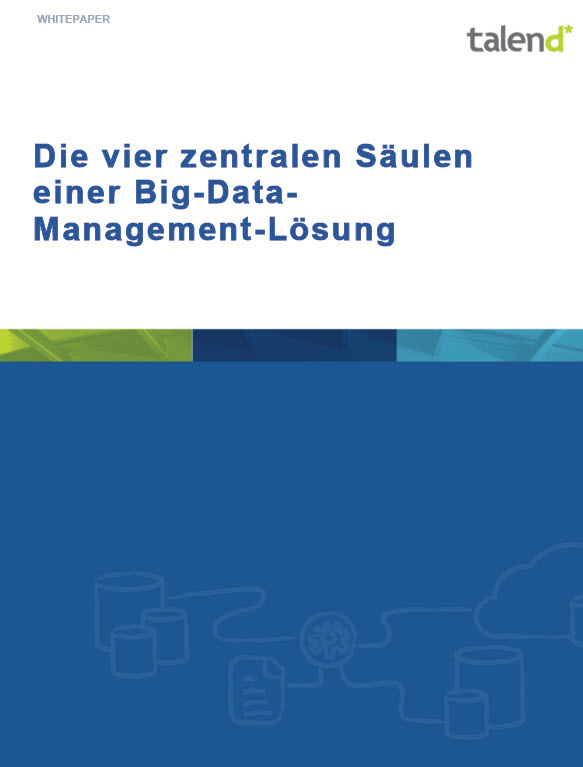Die vier zentralen Säulen einer Big Data Management-Lösung