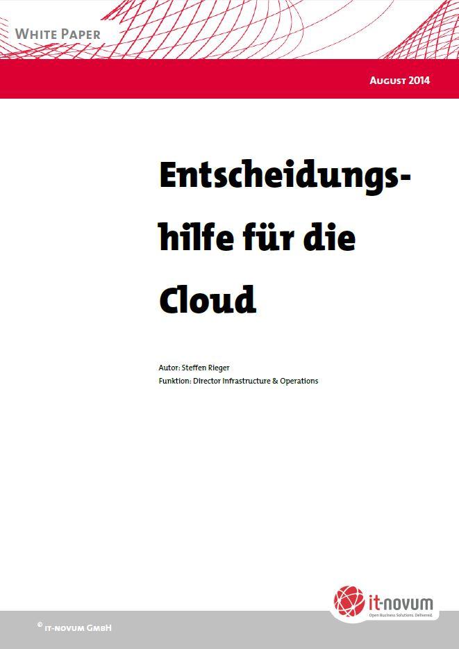 Entscheidungshilfe für die Cloud